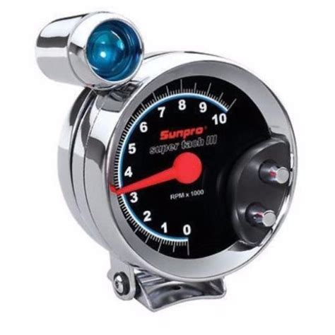 Tachometer Sunpro Super Tach Iii Black Face With Shift