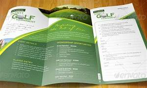 35 premium brochure design template With golf tournament program template