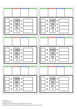 montessori math place  worksheet  cherlyn lu tpt