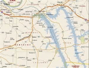 Kentucky Lake KY Map