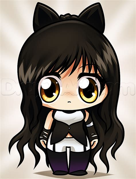 How to Draw Blake From Rwby Chibi