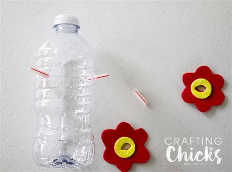 diy hummingbird feeder  crafting chicks