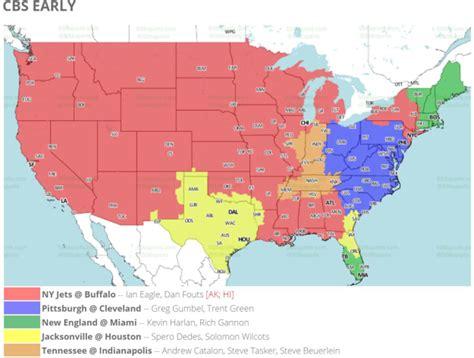NFL Week 17 TV Schedule Maps: Jets-Bills Highlights ...