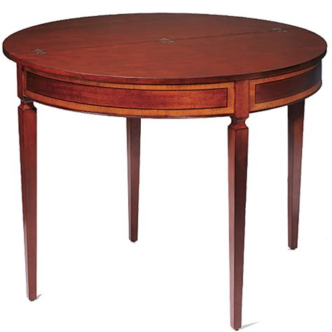 table ronde demi lune mahogany demi lune card table