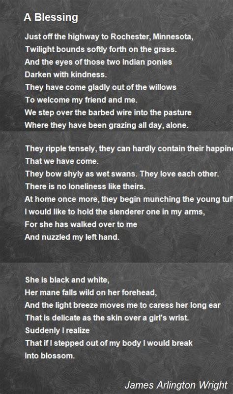 blessing poem  james arlington wright poem hunter