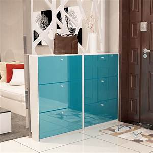 Lk1690, Paint, Shoes, Cabinets, Ultra, Thin, Large, Capacity, Shoes, Organizer, Simple, Hallway, Cabinet