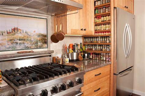 Kitchen Cabinet Organization Ideas - beautiful wall mount spice rack in kitchen mediterranean with built in spice rack next to