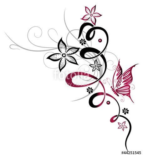 ranken bloemen quot ranke flora blume bl 252 te schmetterling pink