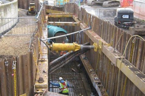 specialist trench propping kit  yorkshire sewage works