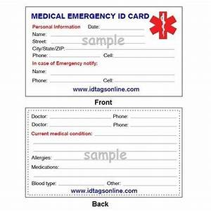 details about medical emergency wallet card for medical With medical alert card template