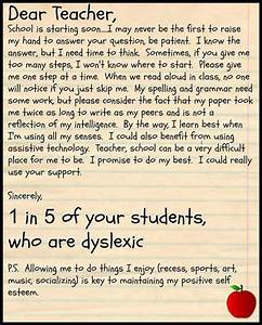 quotparents must explain dyslexia to their child39s teachers With teaching children letters