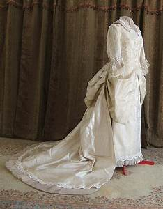 late 1870s victorian wedding gown historical costume With victorian era wedding dresses