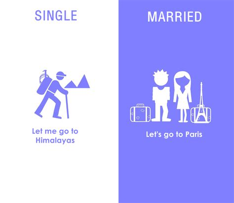 Differences In Single And Married People  Bored Panda