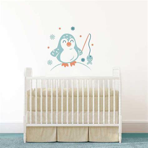 stickers chambre bebe garcon sticker mural quot pingouin quot motif bébé garçon pour chambre