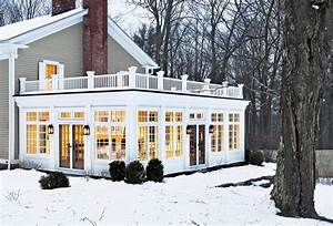 Sunroom decorating ideas exterior traditional with roof