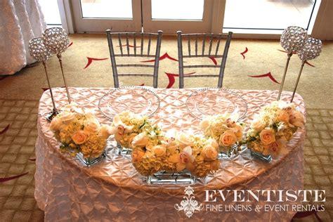 sweetheart table  moon table clear gem holders