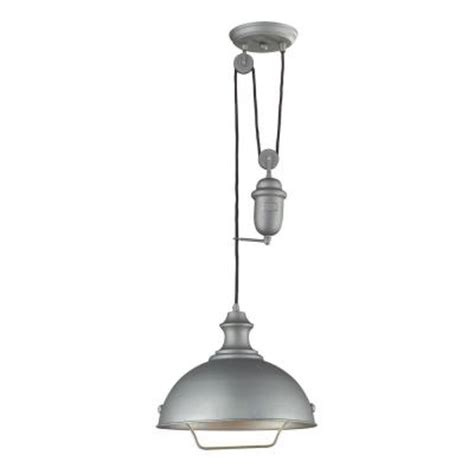 titan lighting farmhouse 1 light aged pewter ceiling mount