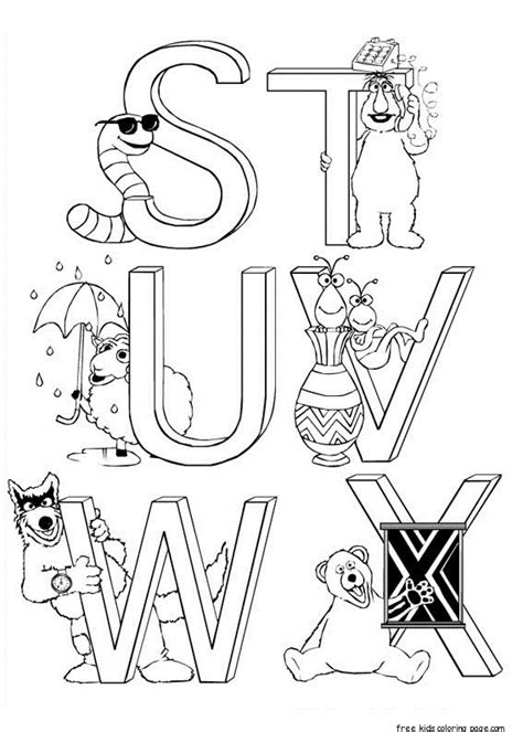 sesame street alphabet coloring pages  kidsfree printable coloring pages  kids