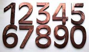 large block house floating numbers 6 150 mm in copper With large house letters