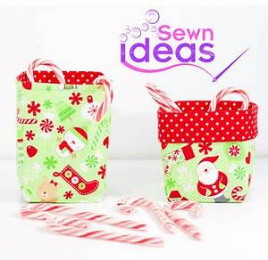 Mini Christmas Gift Baskets Free Sewing Pattern