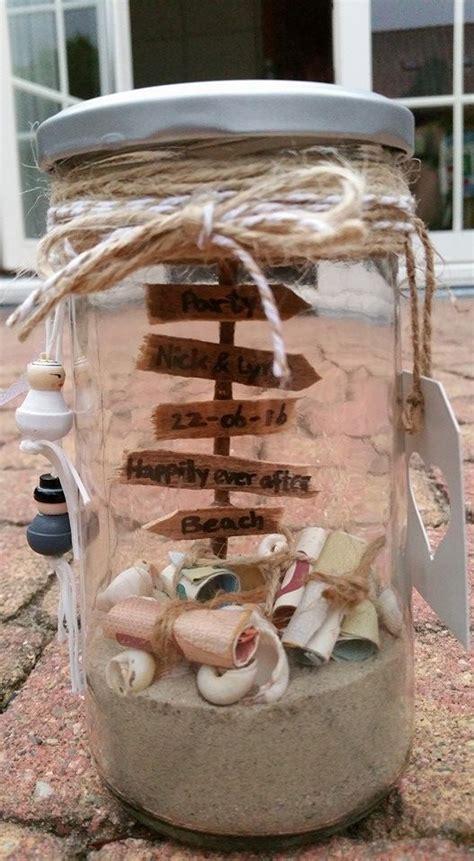 hochzeitsgeschenke basteln ideen hochzeitsgeschenk geld im glas geschenk schenken verschenken hochzeit geld sand strand
