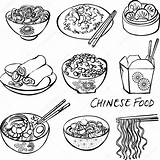 Chinese Vector Illustration Icons Drawing Depositphotos Omw Dumplings Getdrawings Illustrations sketch template