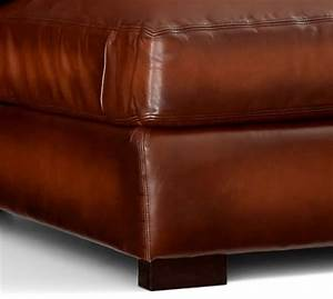 turner roll arm leather 4 piece chaise sectional pottery With pottery barn turner sectional sofa