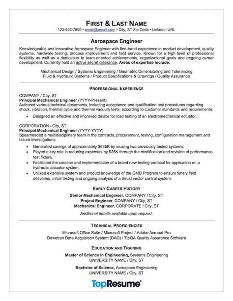Aerospace & Aviation Resume Sample  Professional Resume