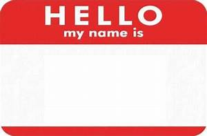 Hello! clipart introduce yourself - Pencil and in color ...