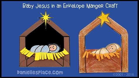 baby jesus   manger envelope craft  kids youtube