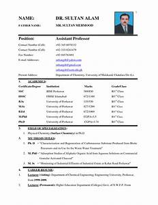 biodata form in word simple biodata format doc With biodata format for job application