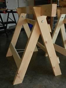 Plans to build Free Foldable Sawhorse Plans PDF Plans