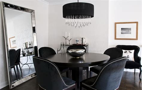 black velvet dining chairs contemporary dining room