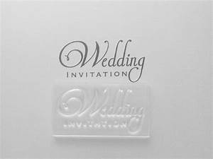 wedding invitation 2 line clear stamp With wedding invite stamps uk