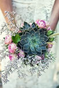 Flowers and Succulent Wedding Bouquets