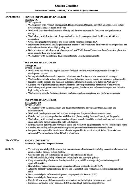 software qa engineer resume sles velvet jobs