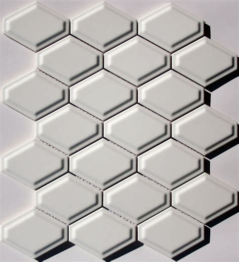 elongated hex tile lyric lounge elongated hex tile convex in candlelight white