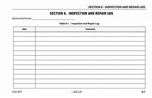 Section 6  Inspection And Repair Log  Section