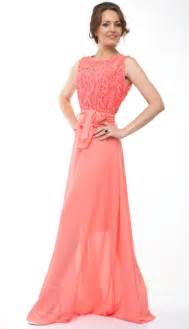 coral bridesmaids dresses bridesmaid dress lace chiffon dress wedding coral 2418331 weddbook