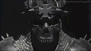 Triple H wearing the skull mask - I Love Wrestling Gifs