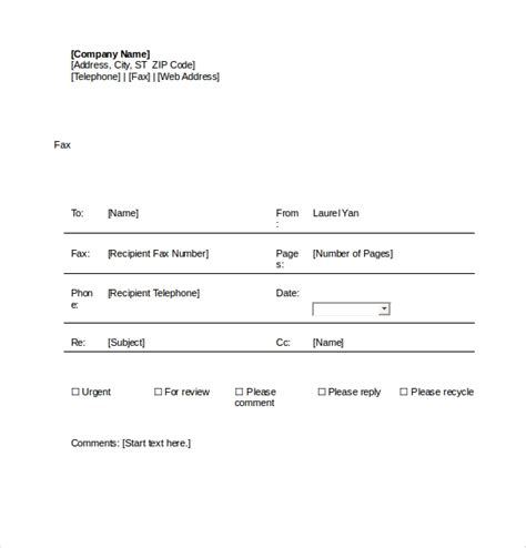 cover sheet templates  microsoft word