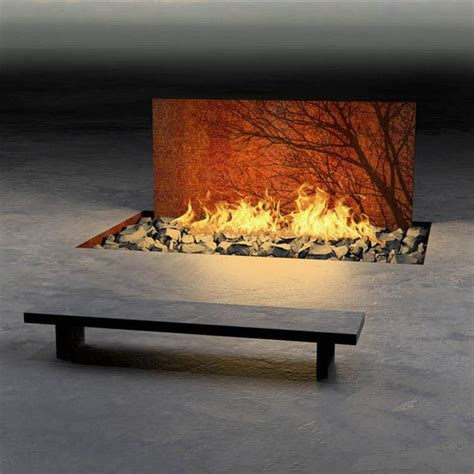 Wall Mounted Bio Ethanol Fireplace by 30 Awesome Outdoor Fireplace Amp Fire Pit Designs