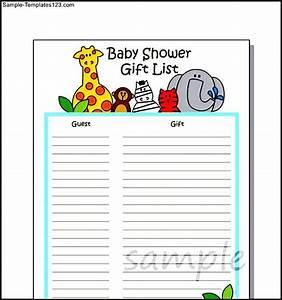 baby shower gift wish list template sample sample With baby shower wish list template