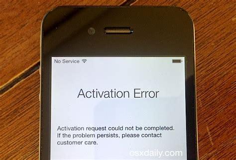 fix an activation error after an iphone reset restore