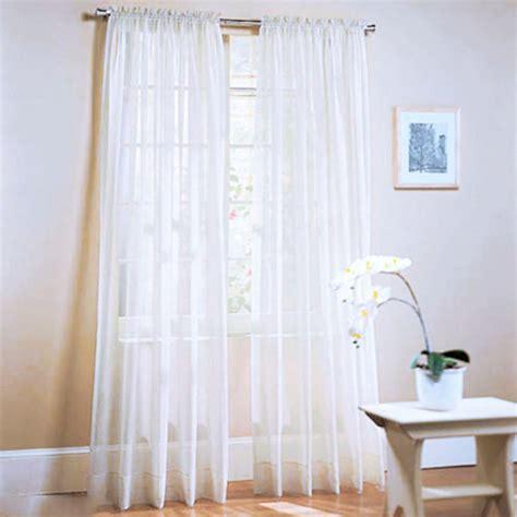 Sheer Voile Curtains Uk by Sheer Voile Room Window Curtain Drape Assorted Scarf Panel