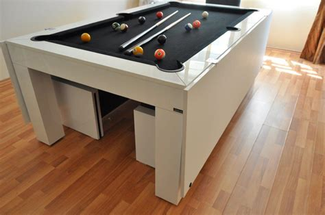 white pool table dining table luxury dolce cream dining top pool table