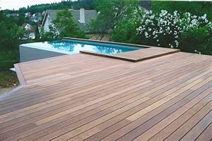 Bois Terrasse Piscine : terrasse bois exotique piscine jardin ~ Melissatoandfro.com Idées de Décoration