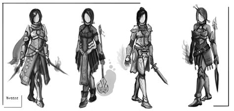 Fantasy Mage-warrior Concept Sketches By Zeroephyrt On