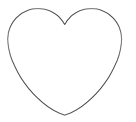Templates For Hearts - ClipArt Best