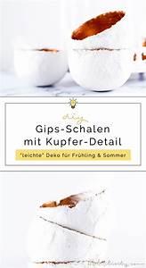 Frühjahrsdeko Selber Machen : diy gips schalen mit kupferdetail basteln diy blog aus dem rheinland ~ Frokenaadalensverden.com Haus und Dekorationen